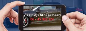Autoschade nabij Rotterdam
